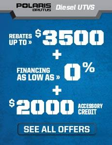 Brutus Special Offers - $2500 Rebate + Free Cab - MY2015
