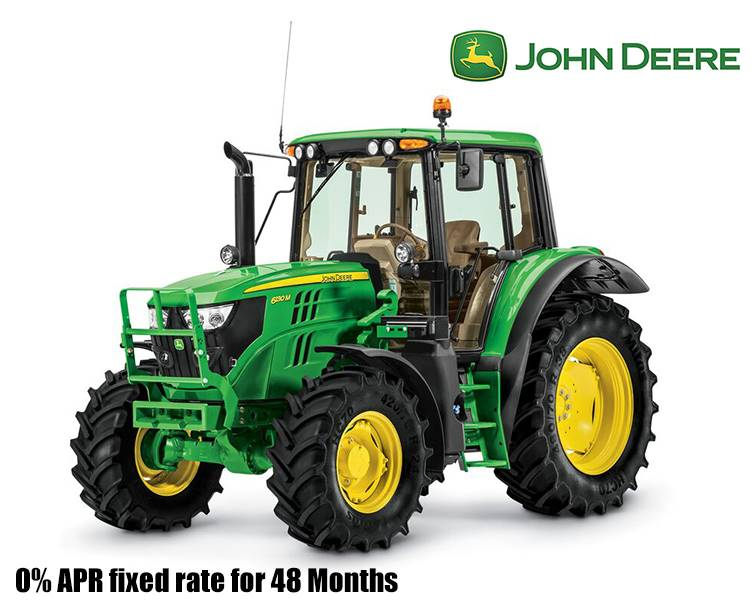 John Deere - 0% APR fixed rate for 48 Months on 6M/6R Utility Tractors
