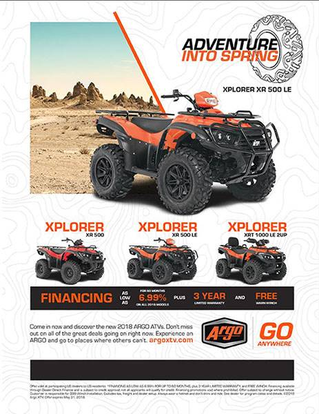 Argo - Adventure Into Spring ATV Offers