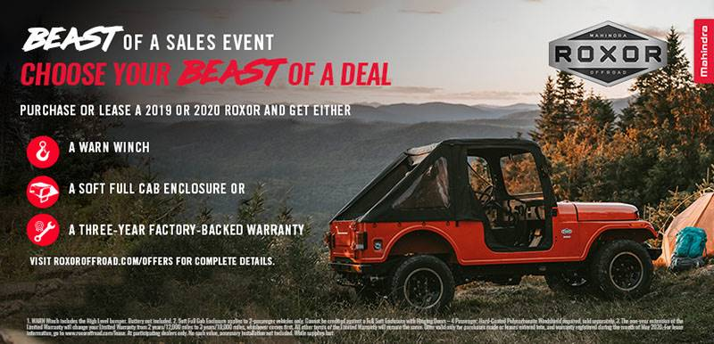 Mahindra Automotive North America Mahindra Roxor - Beast of A Sales Event