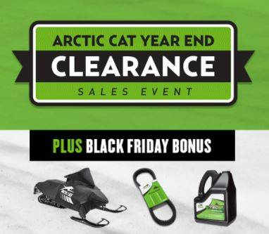 Arctic Cat Year End Clearance Sales Event