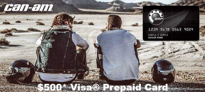 Can-Am On-Road - $500* Visa® Prepaid Card