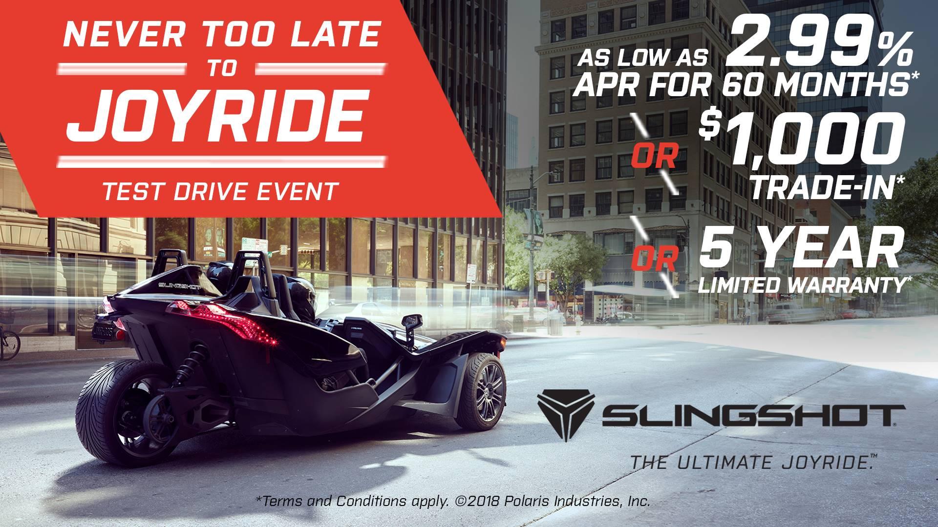 Slingshot - Never Too Late to JOYRIDE Test Drive Event