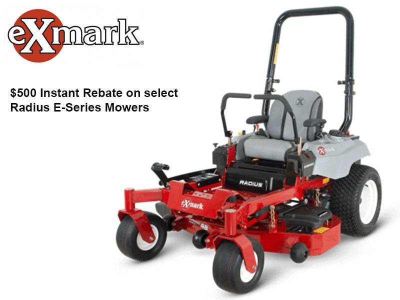 Exmark - $500 Instant Rebate on select Radius E-Series Mowers