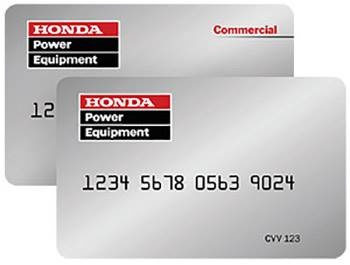 Honda Power Equipment - Consumer Financing Offers
