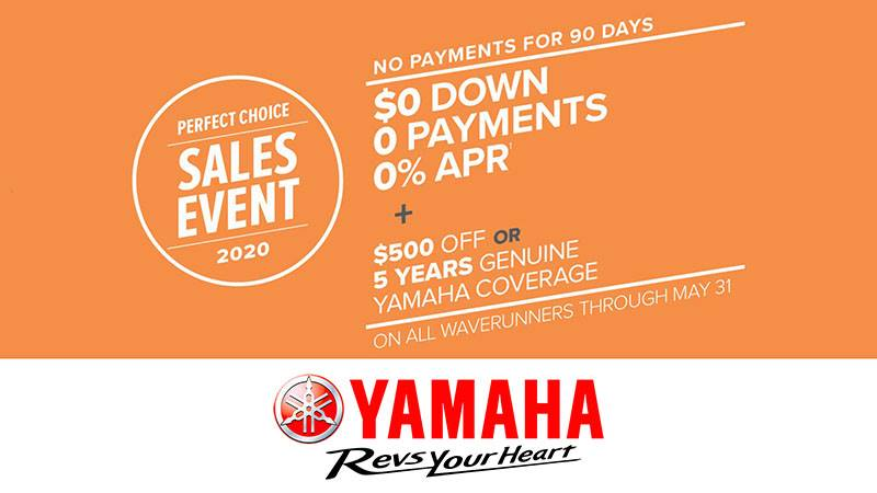 Yamaha Motor Corp., USA Yamaha Waverunners - Perfect Choice Sales Event