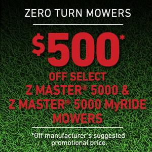 Toro - $500 USD Off Select Z Master 5000 Series and Z Master 5000 Series MyRIDE Mowers