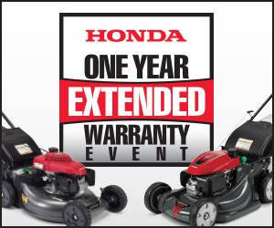 Honda Power Equipment - One Year Extended Warranty on all HRR, HRX, and HRS Mowers