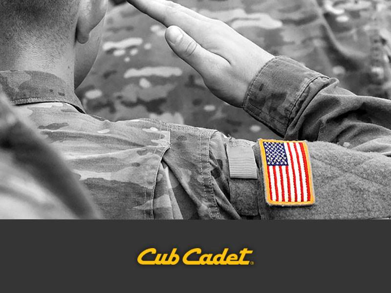 Cub Cadet - Special Offers - Military Member Rebates