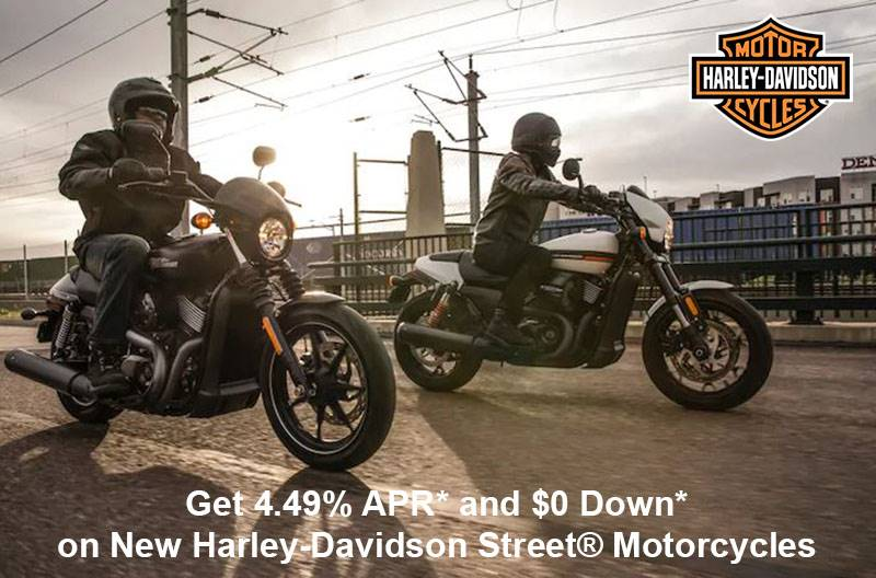 Harley-Davidson - Get 4.49% APR* and $0 Down* on New Harley-Davidson Street® Motorcycles