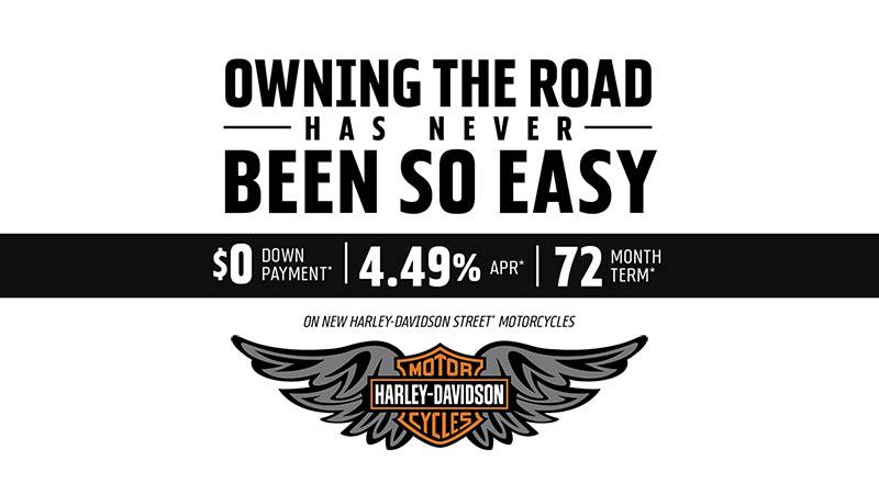 Harley-Davidson - Get 4.49% APR and $0 Down on New Harley-Davidson Street® Motorcycles