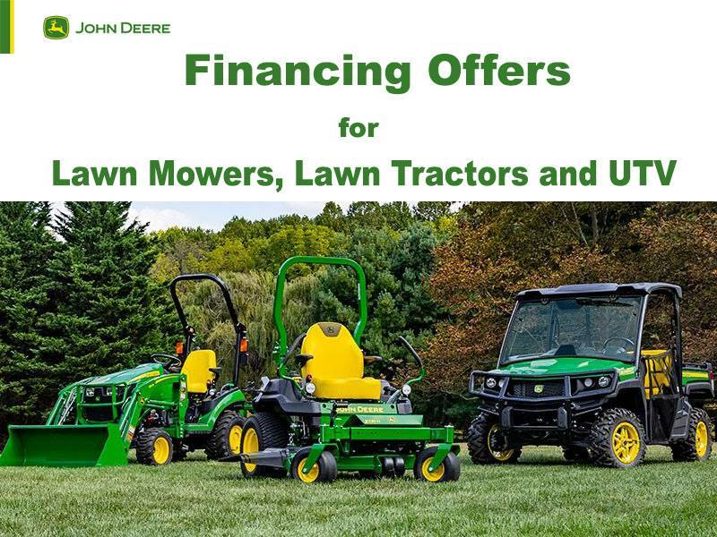 John Deere - Financing Offers for Lawn Mowers, Lawn Tractors and UTV