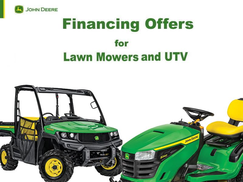 John Deere - Financing Offers for Lawn Mowers and UTV