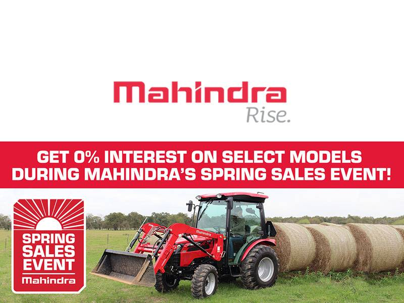 Mahindra - Get 0% Interest On Select Models