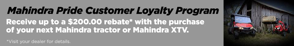Mahindra Pride Customer Loyalty Program