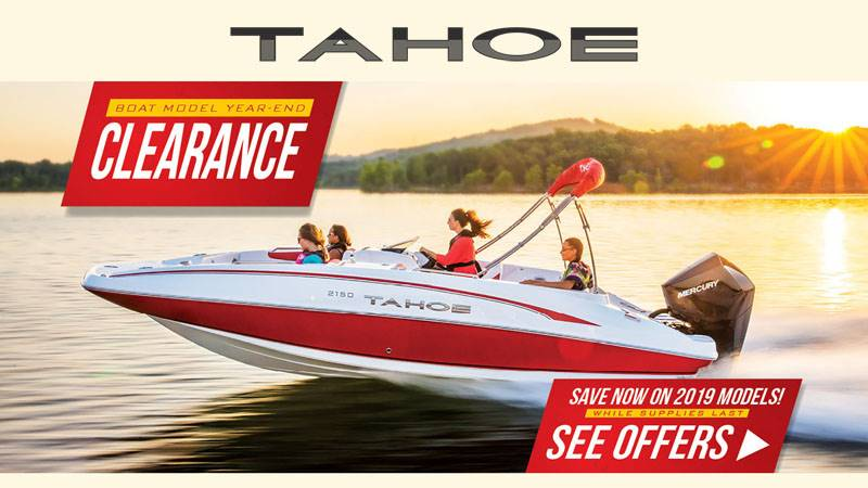 Tahoe - Boat Model Year-End Clearance