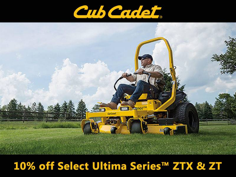 Cub Cadet - Save 10% on Select Ultima Series ZTX and ZT models
