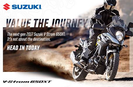 Suzuki Motor of America Inc. Suzuki Fall Suzukifest DualSport and Adventure Motorcycle Financing as Low as 0% APR for 36 Months or Customer Cash Offer