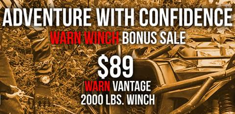 Kymco - Adventure with Confindence - Warn Winch Promotion