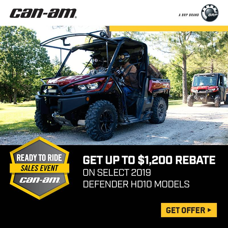 Can-Am - Ready To Ride Sales Event - Defender Rebates