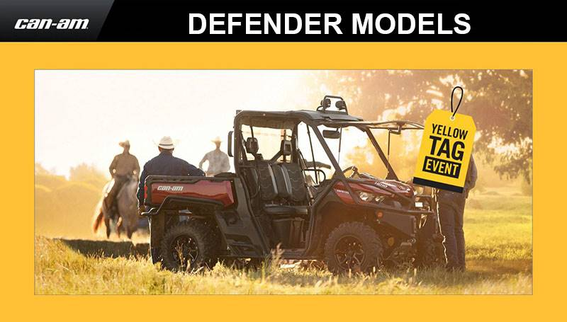 Can-Am - Yellow Tag Event - Defender Rebates