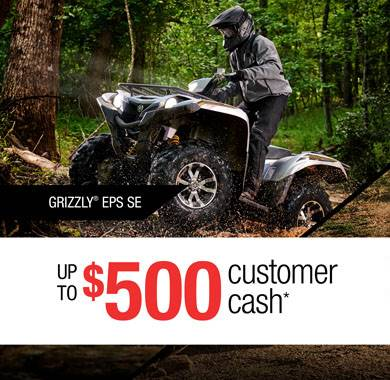 Yamaha Motor Corp., USA Yamaha - Current Offers - Utility ATV - $500 Cash Back