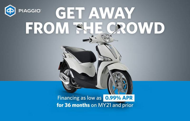Piaggio - Get Away from The Crowd
