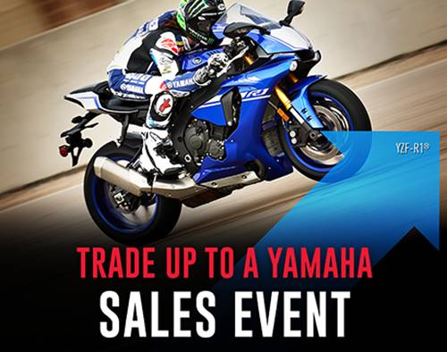 Yamaha Motor Corp., USA Yamaha - Trade Up to a Yamaha Sales Event - Road Motorcycles