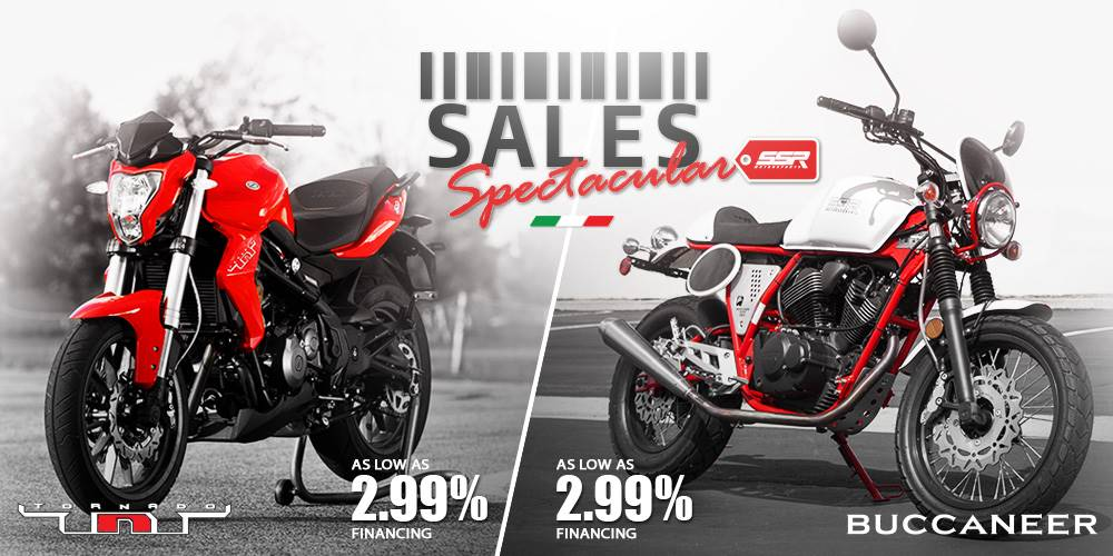 Benelli SALES Spectacular - AS LOW AS 2.99% FINANCING