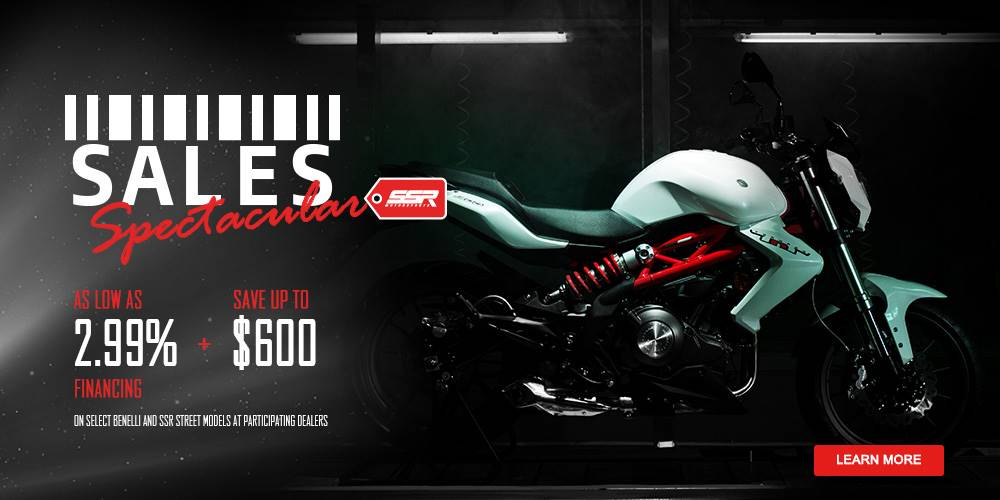 Benelli SALES Spectacular - AS LOW AS 2.99% FINANCING + SAVE UP TO $600
