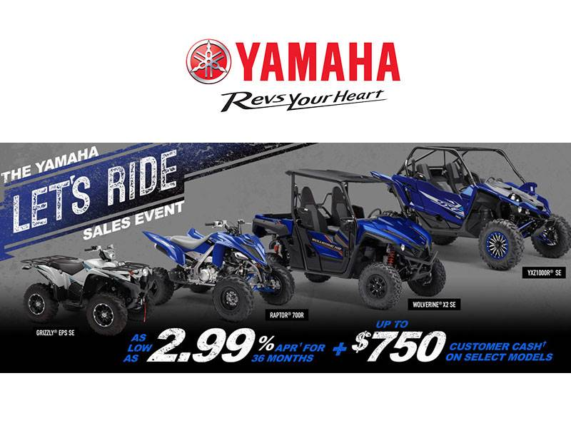 Yamaha Motor Corp., USA Yamaha - Let's Ride Sales Event - SxS