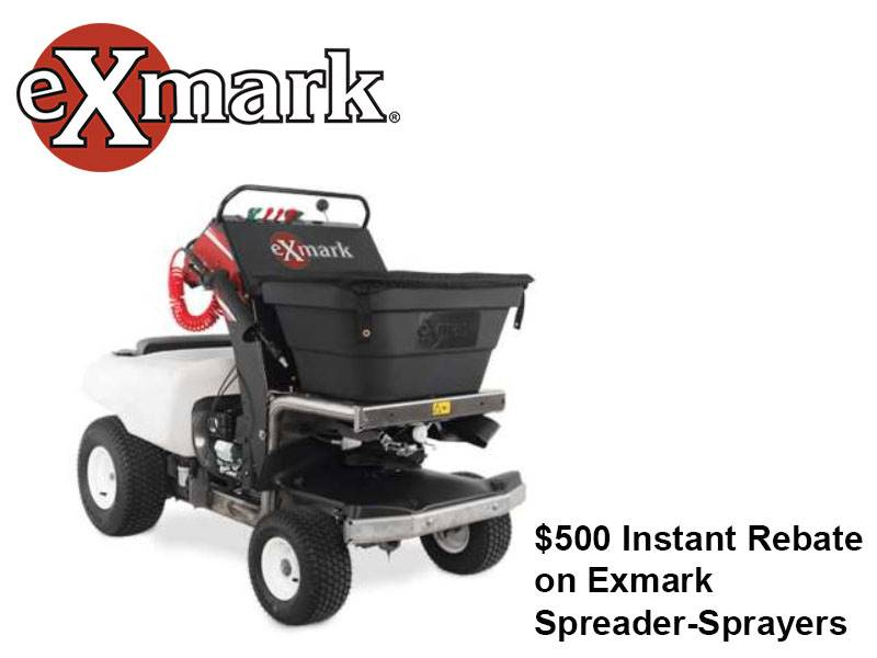 Exmark - $500 Instant Rebate on Exmark Spreader-Sprayers