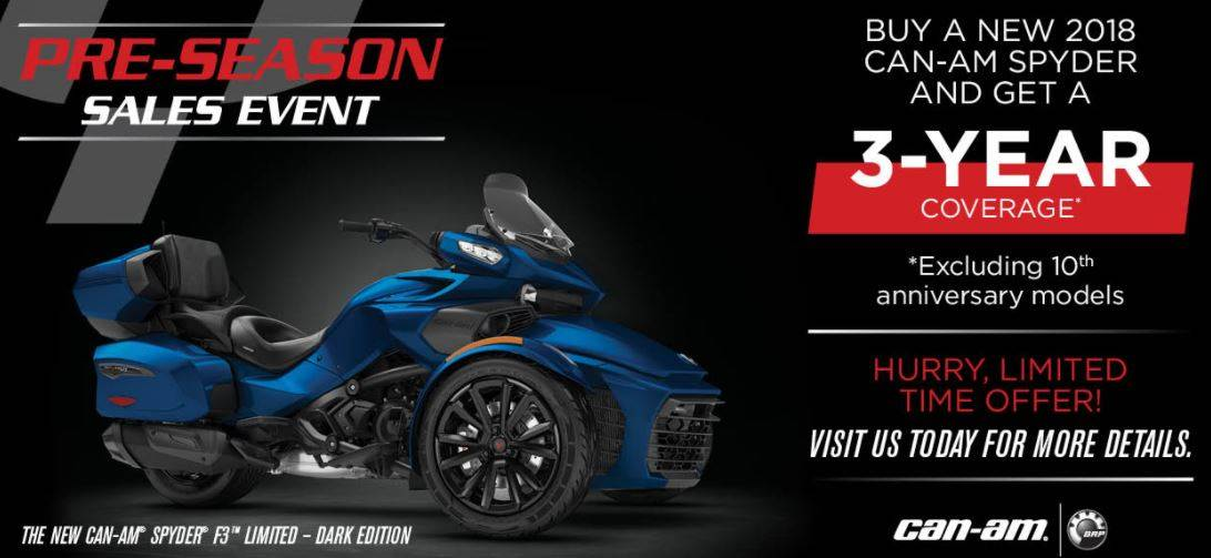 Can-Am Spyder Pre-Season Sales Event