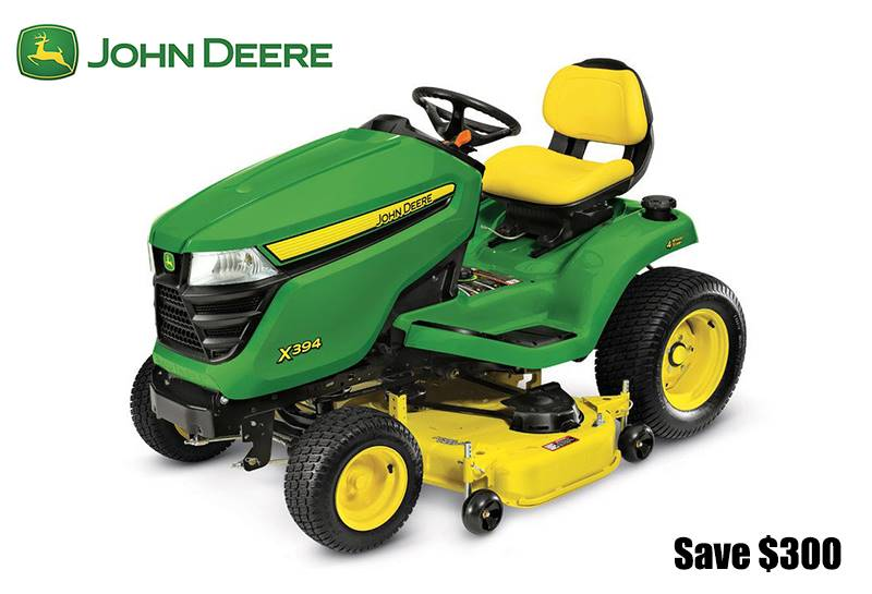 John Deere - Save $300 all X300 Tractors