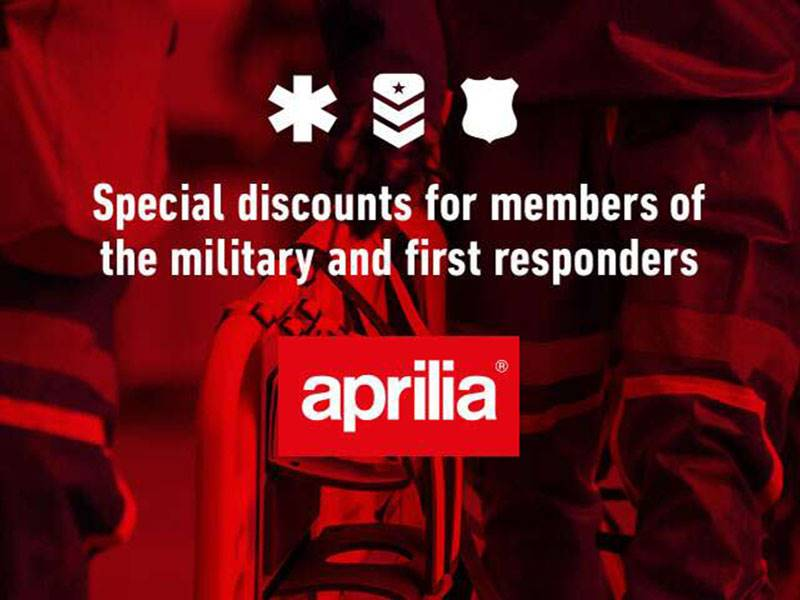 Aprilia - Military, First Responders & Now Teachers