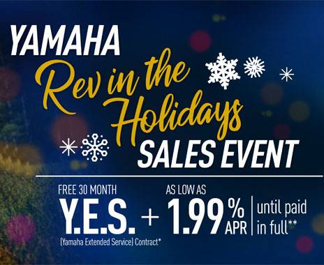 Yamaha Motor Corp., USA Yamaha - Rev in the Holidays Sales Event - Utility Side-by-Side