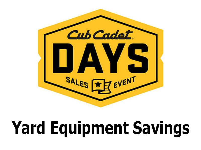 Cub Cadet - Yard Equipment Savings