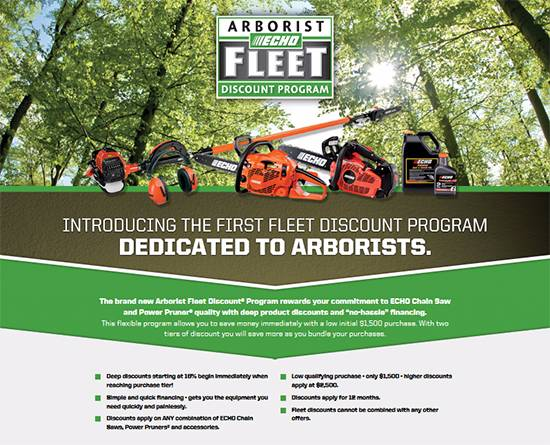 Echo Arborist Fleet Discount® Program!