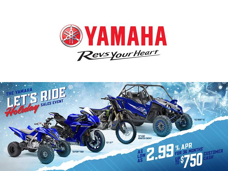 Yamaha Motor Corp., USA Yamaha - Let's Ride Holiday Sales Event - ATV