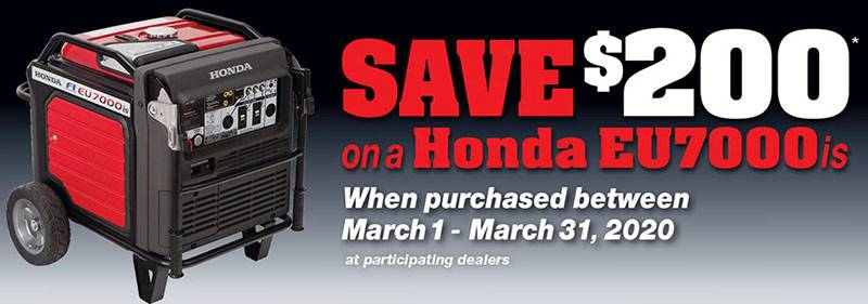Honda Power Equipment - Save $200 on the EU7000iS