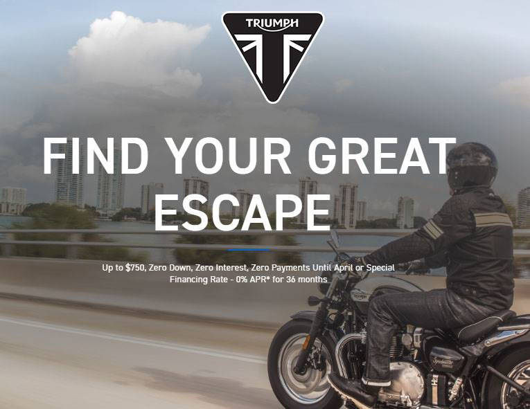 Triumph - Great Escape Offers