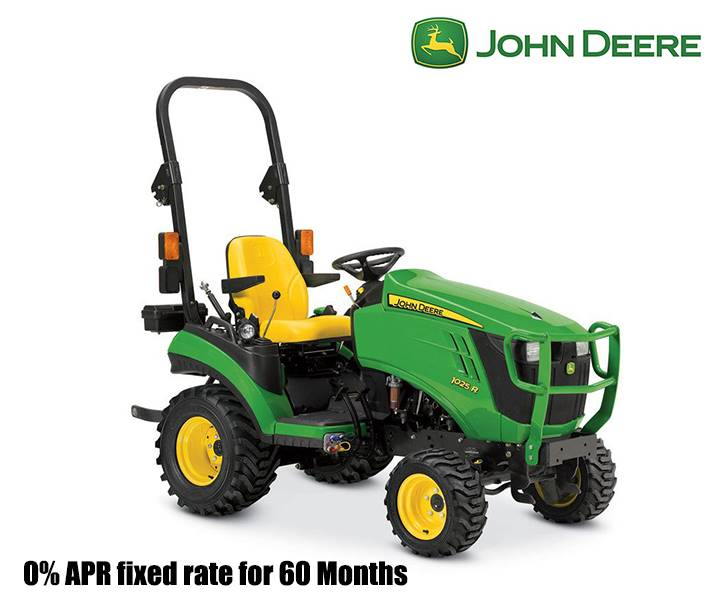 John Deere - 0% APR fixed rate for 60 Months AND Save up to $800