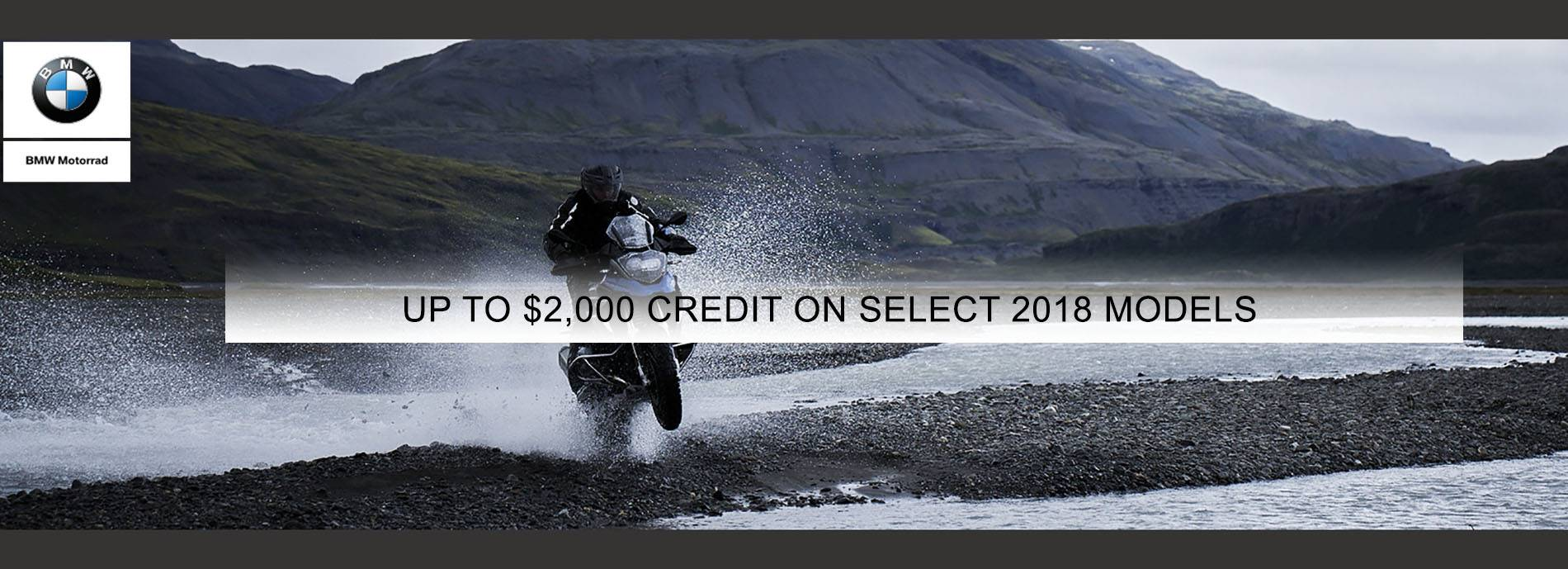 BMW - Up To $2,000 Credit On Select 2018 Models