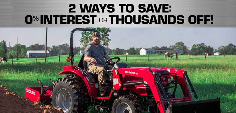 Mahindra - 2 Ways To Save: 0% Interest or Thousands Off!