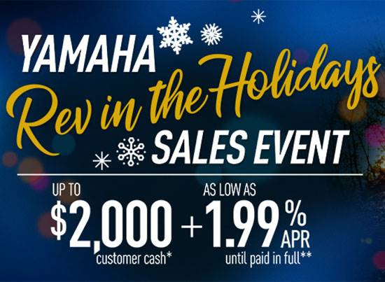 Yamaha Motor Corp., USA Yamaha - Rev in the Holidays Sales Event - Recreation Side-by-Side