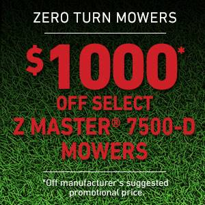 Toro - $1000 USD Off Select Z Master 7500-D Series Mowers