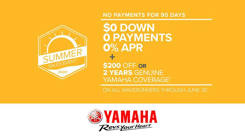 Yamaha Waverunners - Summer Sales Event