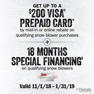 Honda Power Equipment - Financing on Snowblowers