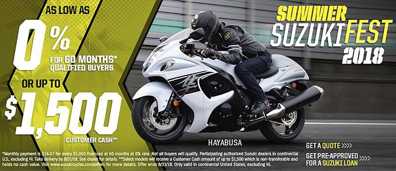 Suzuki Motor of America Inc. Suzuki - Summer Suzuki Fest for Cruiser and Touring