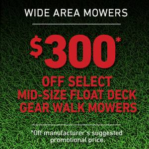 Toro - $300 USD Off Select Mid-Size Float Deck Gear Drive Mowers